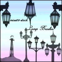 Lamp Post Brushes by miss69-stock