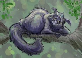 Lazy Binturong by Totalmeep
