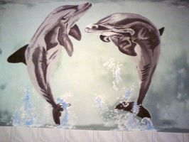 dolphins in bathroom by me3xR