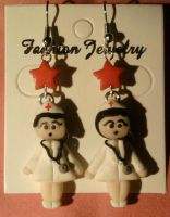 Earring with nurse fimo by bimbalove81