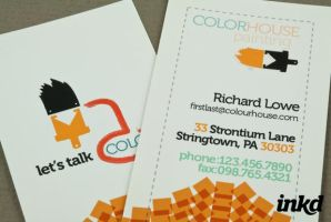 Painting Company Business Card by inkddesign
