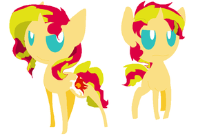Sunset Shimmer And Sunset Glare by angelstar000