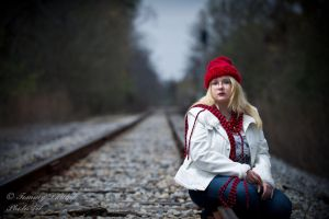 blonde and red on steel by Tommy8250