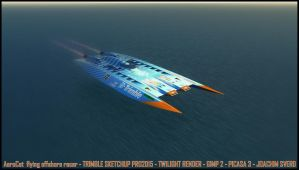 AeroCat at high speed by Scifiwarships