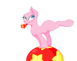 Pony on ball- base by 101PandaManiac101
