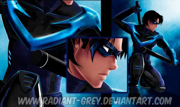 Nightwing (detail) by Radiant-Grey