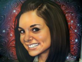 Airbrushed pic of my girl by Jonny5nLala