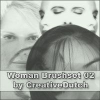 Brushes Woman 02 by creativedutch