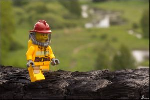 The firefighter by Chribba