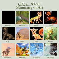 Summary of art 2013 by Okoe