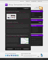 Blog Template 02 Dark by rthaut