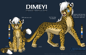Dimeyi ref sheet by KaiserTiger
