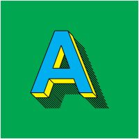 Arial A, from 'Alphabets and Engrossing' by TheDoLittle