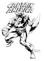 Captain America by Manny Clark - Inks by adr-ben