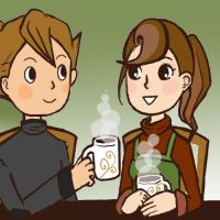 Prof. Layton: Over Cocoa by clamjamfly