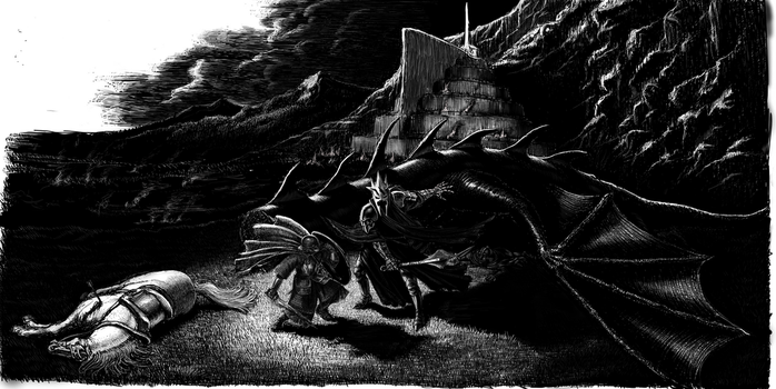 Dernhelm and the Witch-King by TolmanCotton