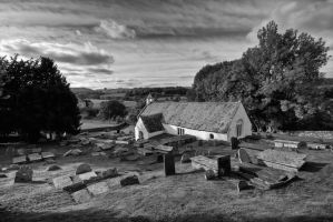 LLangar-Church Monochrome by CharmingPhotography