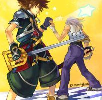 Sora and Riku by morning6am