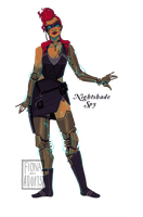 [closed] Adopt - Nightshade Spy by fionadoesadopts