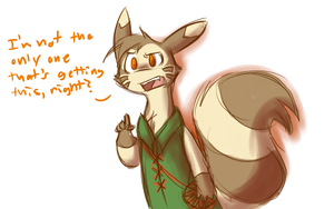 Ozzie as a Furret by Dream-Of-Serenity