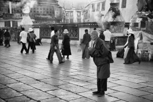 Immersion. Lhasa, Tibet by JohannesLaaksonen