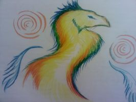 .: Colourful Phoenix thing :. by XxStaggerRosexX