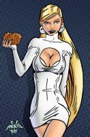Emma Frost by spacehamster