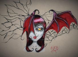 Antlers and Vintage Roses Collection: Batcula!? by xxtretrexx