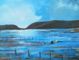Acrylic - Landscape 22 by julie-tugwell