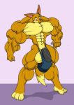 Wolfie tries bodybuilding by chocomus