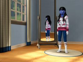 Sims 3 - Me in child form in everyday outfit 4 by Magic-Kristina-KW
