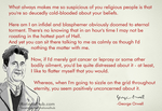 George Orwell on Religious hypocrisy.. by rationalhub