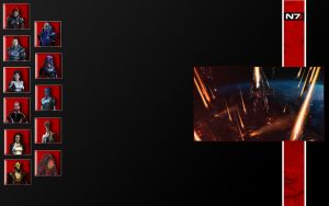 Mass Effect Twitter background by JadesIce