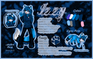 Izzy Reference Sheet for BlueCrystall by Aneeters
