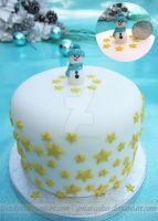 Mini Snowman Cake by ginas-cakes