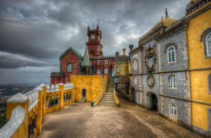 Pena National Palace - The Arches Yard by roman-gp