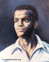 Oil portrait of young man by bearsclover