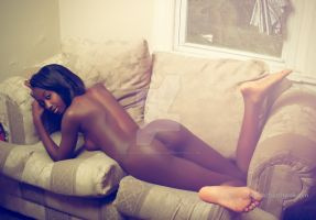 Nyasia Sylvester and the couch by TheArtofChurchwell