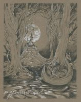Drawing 2 - Moonlit Escape by MeredithDillman