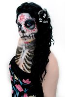 Day of the Dead Goddess by RufflesnStripes