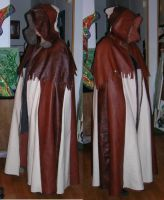 two new leather cloaks by moonbaydesigns