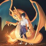 Sasuke and Charizard by Cel-C