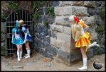 Sailor Moon - Venus stalking by DarkMoonProject