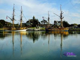 Lady Washington and the Hawaiian Chieftain by TreeClimber