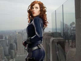 A GREAT VIEW OF BLACK WIDOW'S ASS by darthbriboy