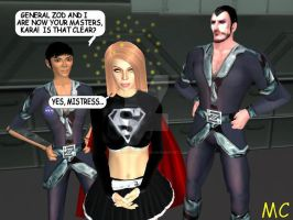 Ursa Hypnotizes Supergirl For Zod by The-Mind-Controller