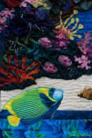 Tropical Delights - Detail I by suedollinQuilts
