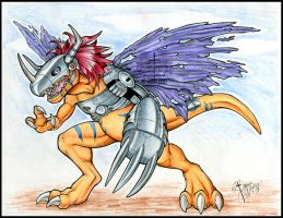 giftART- MetalGreymon by Horus-Goddess