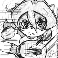 Chibi Sam- Fight by Thesis-D