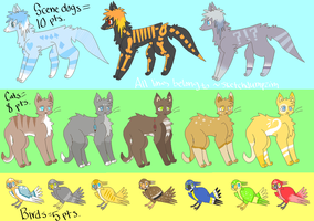 Mixed Adoptables 5-10 pts OPEN by SketchDumpZim